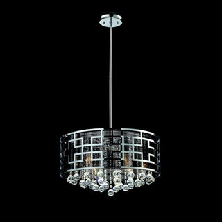 Mirach Chrome-Finished Six-Light Indoor Crystal Chandelier