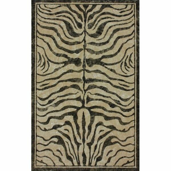 nuLOOM Arts & Crafts Zebra Jute Rug