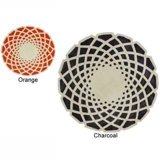 nuLOOM Handmade Abstract Round Rug