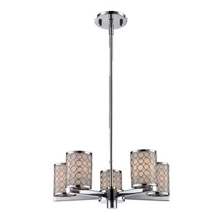 Synergy 5-light Matte Opal Glass Shade Chandelier