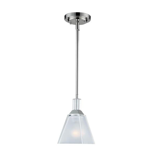 Luxe 1-light Frosted Crystal Glass Pendant
