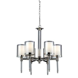 Argenta 6-light Matte Opal Glass Shade Chandelier