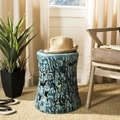 Safavieh Paradise Cloud Blue Ceramic Garden Stool