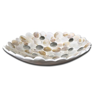 Capiz Shell-accented Decorative Bowl