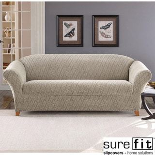 Stretch Braid Pebble Sofa Slipcover