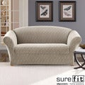 Stretch Braid Pebble Loveseat Slipcover