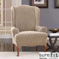 Stretch Braid Camel Wing Chair Slipcover