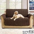 Soft Suede Chocolate Waterproof Loveseat Protector