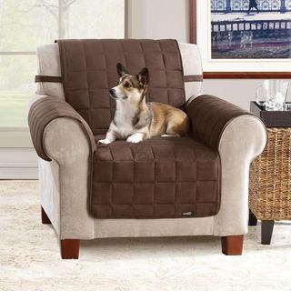 Soft Suede Chocolate Waterproof Chair Protector