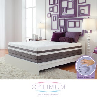 Optimum by Sealy Posturepedic Gel Memory Foam Elation Pillowtop Queen-size Mattress Set