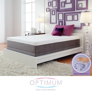 Optimum by Sealy Posturepedic Gel Memory Foam Vibrant King-size Mattress Set