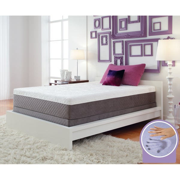 Optimum by Sealy Posturepedic Gel Memory Foam Vibrant Cal King-size Mattress Set