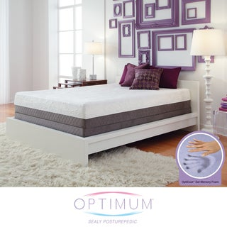 Optimum by Sealy Posturepedic Gel Memory Foam Inspiration Cal King-size Mattress Set