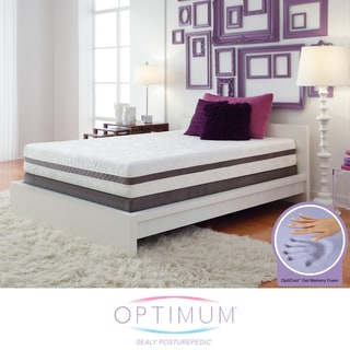 Optimum by Sealy Posturepedic Gel Memory Foam Radiance Queen Mattress Set