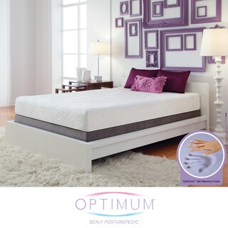 Optimum by Sealy Posturepedic Gel Memory Foam Destiny Full-size Mattress Set
