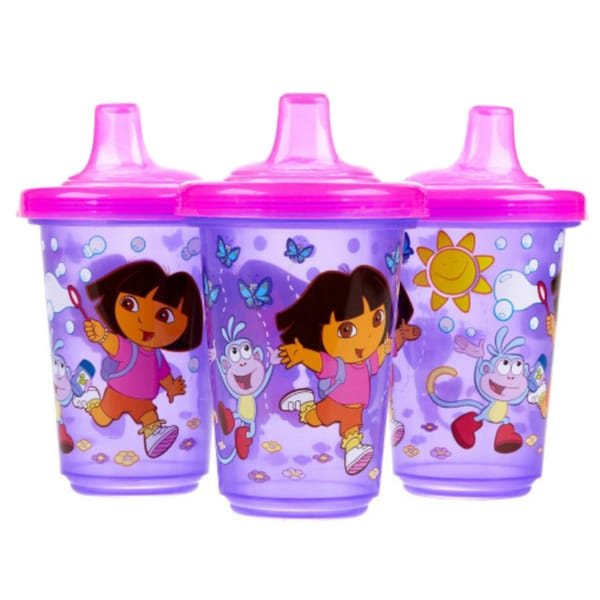 Dora the Explorer Twist Tight Re-Usable Spill-Proof Cups (Pack of 3)