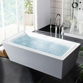 Wyndham Collection Soho Freestanding Soaking Bathtub 14059893 Overstock S