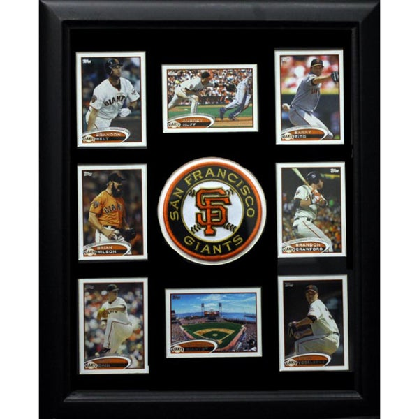 San Francisco Giants Logo Frame with 8 Baseball Cards (12 x 18)