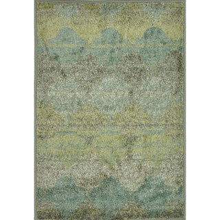 Arrakis Sea/ Taupe Rug (2'0 x 3'0)