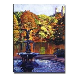 David Lloyd Glover 'Fountain at Central Park' Canvas Art