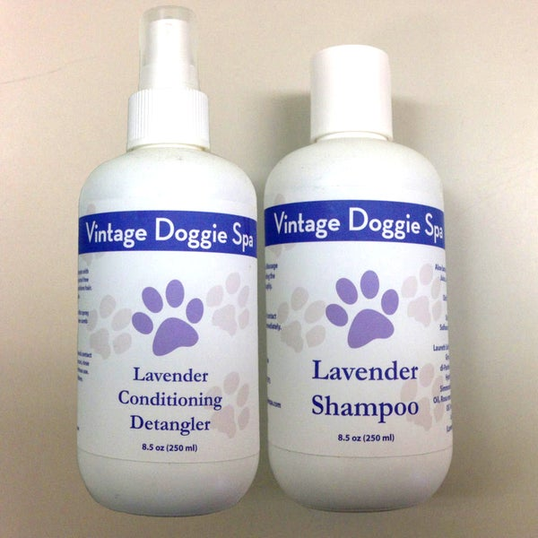 Vintage Doggie Spa Lavender Grooming Set