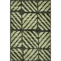 Arrakis Charcoal/ Green Rug (2'0 x 3'0)