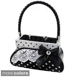 Jacki Design Polka Dot Handbag Jewelry Holder