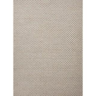 Handmade Flat Weave Solid Beige/ Brown Wool Rug (3'6 x 5'6)