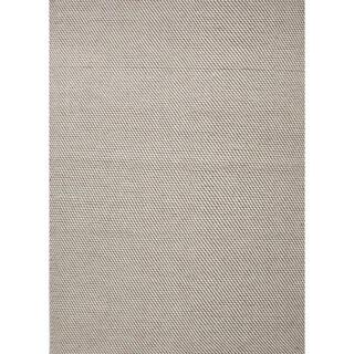 Handmade Flat Weave Solid Gray Wool Rug (8' x 10')