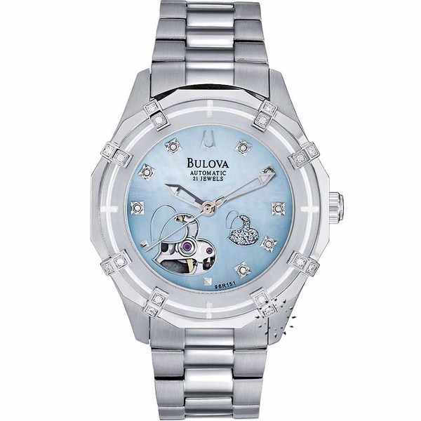 Bulova Women's 96R151 Steel Dual-aperture Automatic Watch