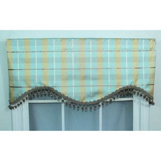RLF Home Silk Picnic Sky Plaid Valance
