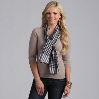 Classic Black Checkered Cotton Scarf
