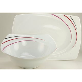 Create a Table European Two-Piece Metropol Decor Fine Porcelain Completer/Serving Set