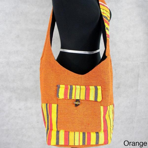Handmade Bucket Style Cross-Body Bag (India)