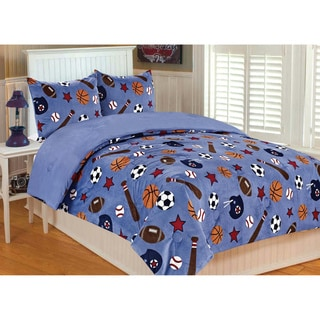 Sports Microplush 3-piece Comforter Set