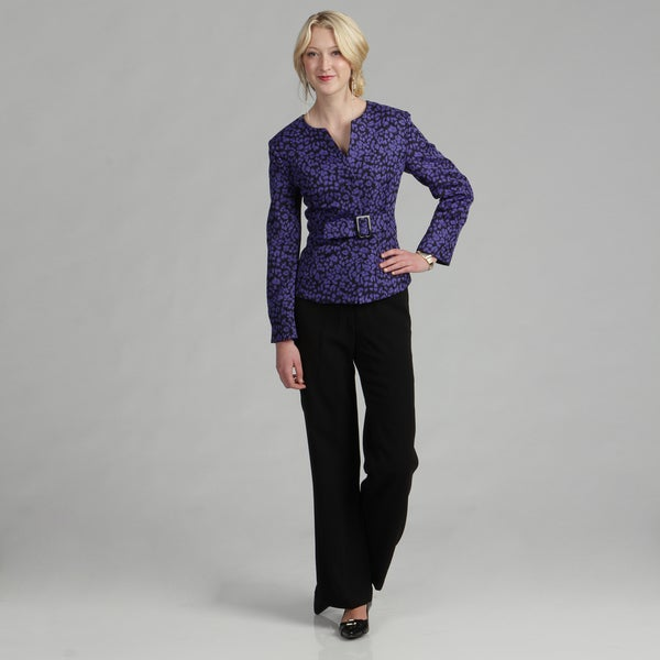 Danillo Women's Buckle-detail Pant Suit
