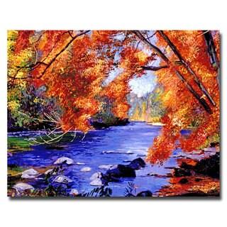 David Lloyd Glover 'Vermont River' Canvas Art