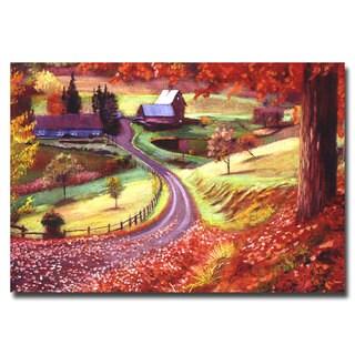 David Lloyd Glover 'Road to Maplegrover Farms' Canvas Art