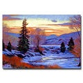 David Lloyd Glover 'Early Spring Daybreak' Canvas Art