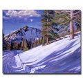 David Lloyd Glover 'Snow Mountain Road' Canvas Art
