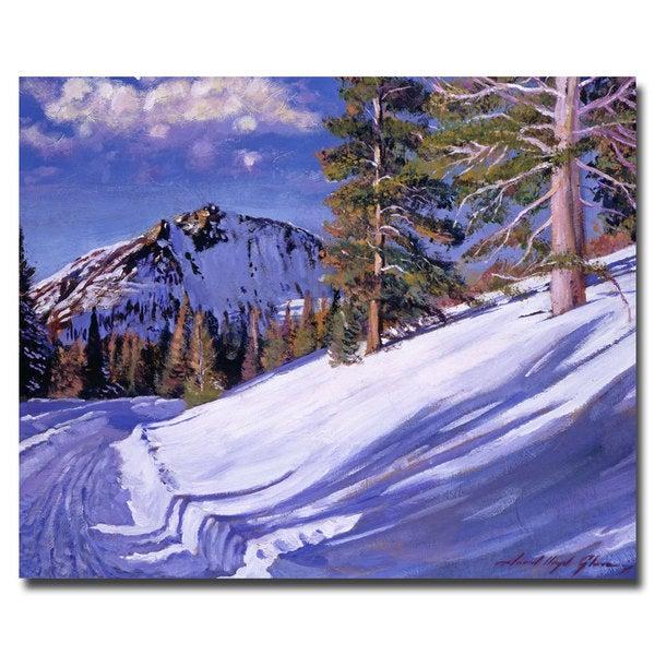 David Lloyd Glover 'Snow Mountain Road' Canvas Art
