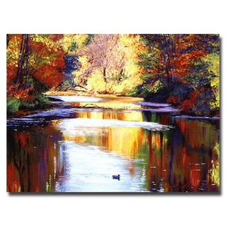 David Lloyd Glover 'Reflections of August' Canvas Art