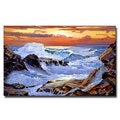 David Lloyd Glover 'Storm on the Irish Coast' Canvas Art