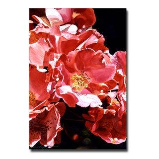 David Lloyd Glover 'Wild Roses' Canvas Art