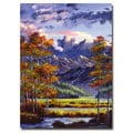 David Lloyd Glover 'Mountain River Valley' Canvas Art