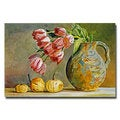 David Lloyd Glover 'Soft Tulips in the Pottery' Canvas Art