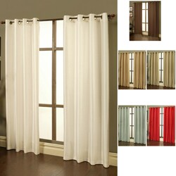Sherry Kline Faux Silk Grommet Top 84-inch Window Panel Pair