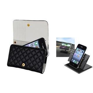 BasAcc Leather Wallet Case/ Phone Holder for Apple iPhone 4/ 4S