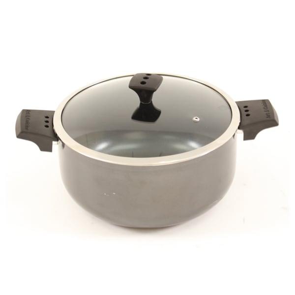 Art & Cuisine Diaz Grey 9.1-quart Lidded Pot