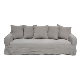Melrose Light Grey Linen Sofa